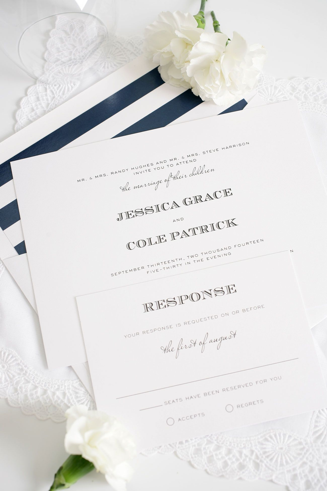 Vintage Wedding Invitations in Navy and Lime Green | Pinterest ...