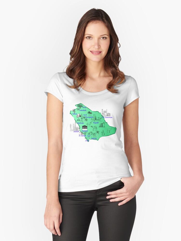 خريطة المملكة العربية السعودية مع اسماء المدن الرئيسية واهم المعالم السياحية التاريخية والاقتصادية والدينية Millions Of Classic T Shirts Shirt Designs Women