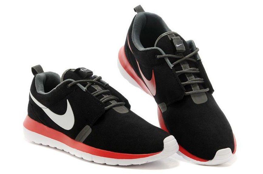Nike Roshe Courir 1 confortable Hommes NM Walking Chaussures 631749-060  Noir/Neutre