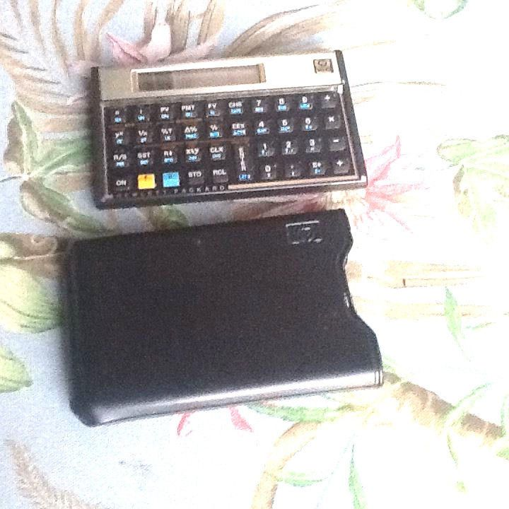HP 12C Financial Calculator Made in Brazil with Pristine case - financial calculator