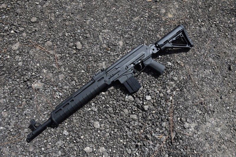 A Magpul pistol grip and Zhukov handguard round out the
