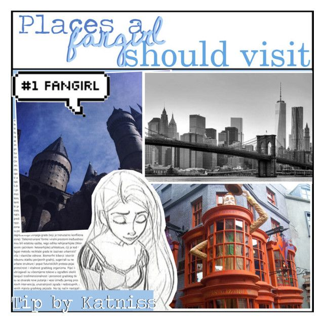 """""""Places a fangirl should visit! ~Katniss"""" by the-fandom-gals ❤ liked on Polyvore featuring art"""