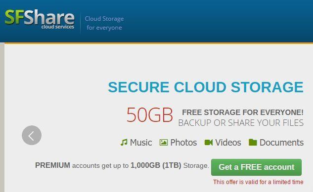 SFshare - FREE Smart Cloud Storage - FREE File Sharing
