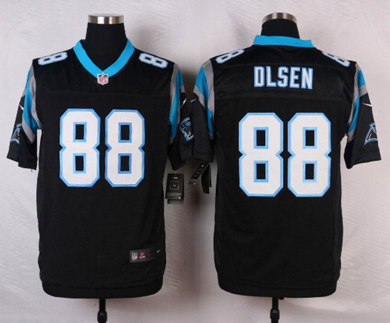 000577a4 NFL Customize Carolina Panthers 88 Olsen Black Men Nike Elite Jerseys
