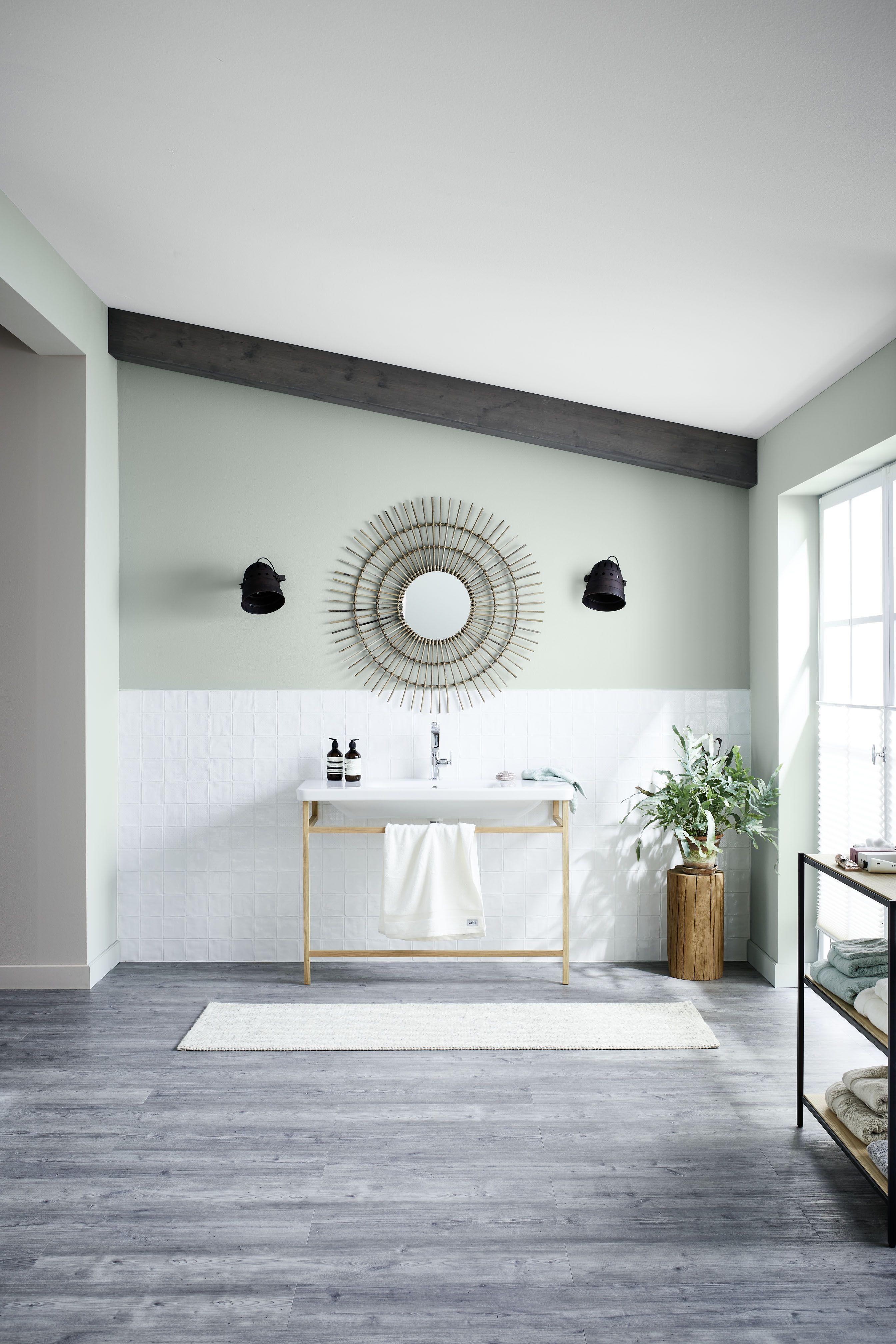 Schoner Wohnen Kollektion Designfarbe Harmonisches Jadegrun In 2020 Schoner Wohnen Wandfarbe Wohnen Schoner Wohnen