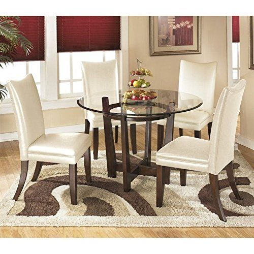 Ashley Charrell Faux Leather Dining Side Chair In Ivory Included Interesting Ivory Dining Room Set Decorating Inspiration