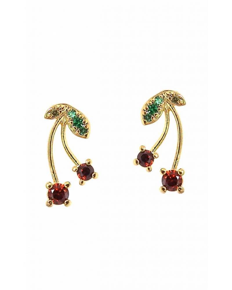 Tai Jewelry Pave Cherry Earrings
