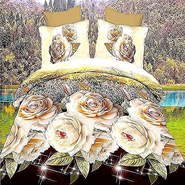 Photo of Ensemble De Linge De Lit Simple –  Hot fashion high quality 4pcs 3D reactive bed…