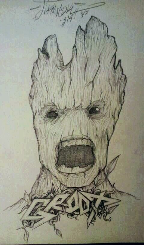 Groot draw by stikbreak