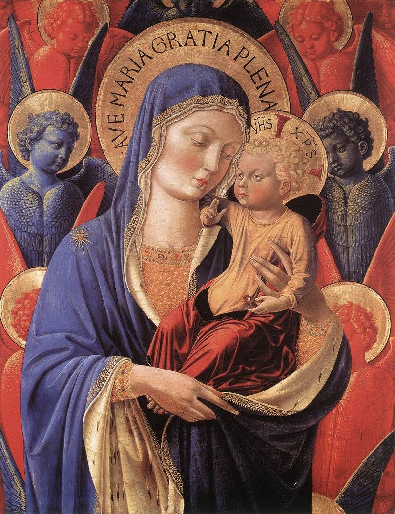 Madonna and Child (1460) -Benozzo Gozzoli-    6:40PM      PERMALINK   NOTES: 193    FILED UNDER: art  painting  Benozzo Gozzoli  15th century