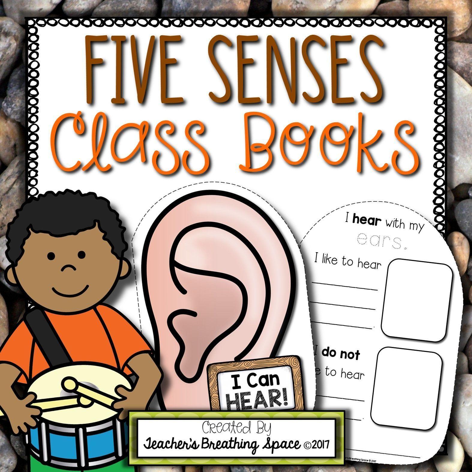 Five Senses Class Books Class Shape Books For Each Of