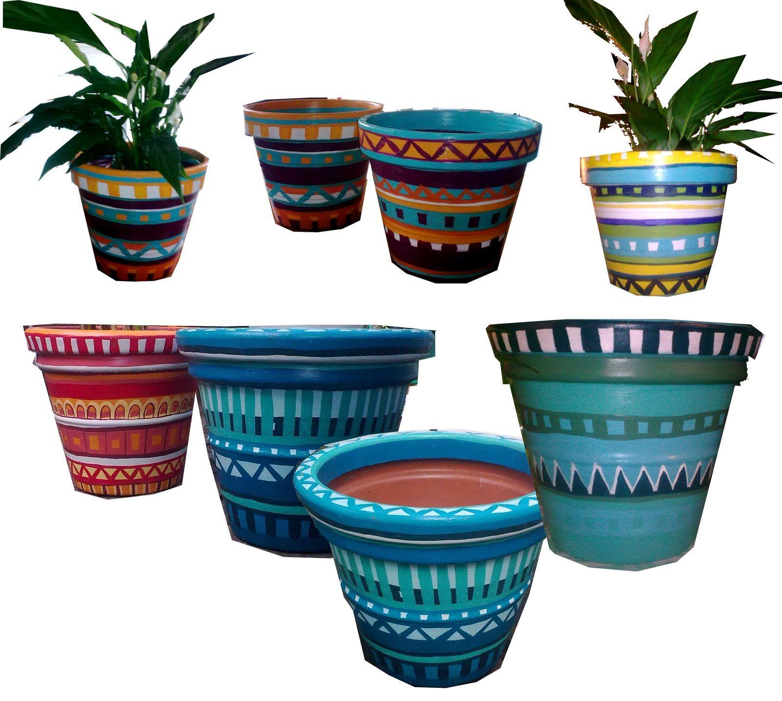Hand Painted Flower Pots Uk