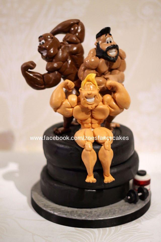 Bodybuilder 7 sugar figurines people for Kuchenstudio essen