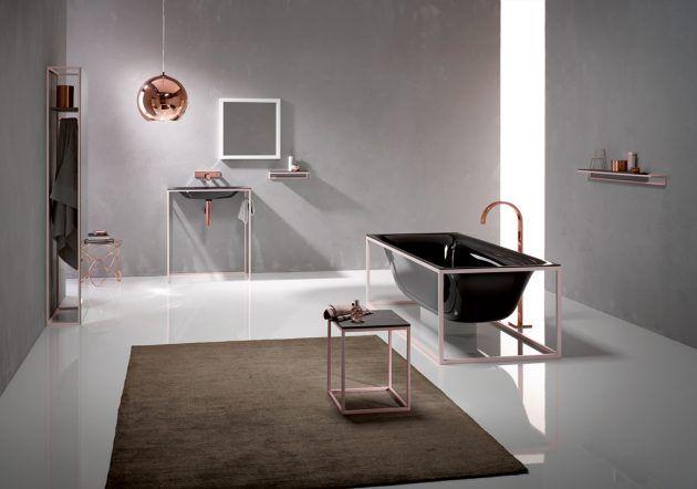 Badezimmermöbel Schwarz ~ Minimalistisches bad von bette badezimmer schwarz freistehende