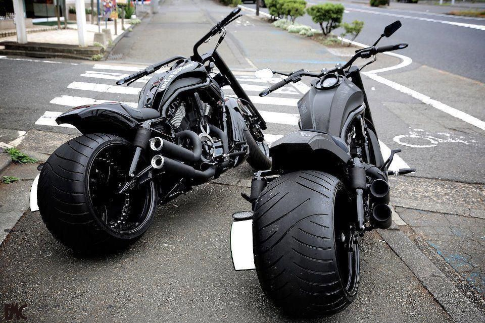 custom harley davidson night rod, 360 tire | custom chopper