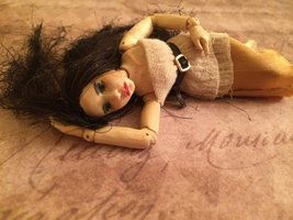 Complete new commission mini wooden bjd by monkeygstudio