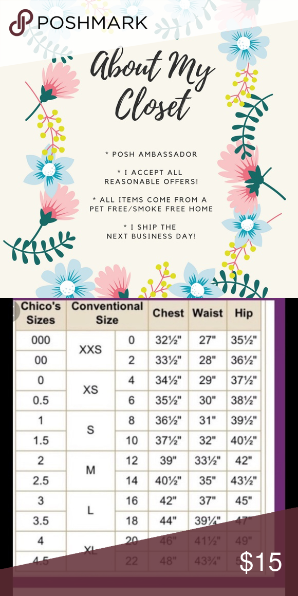 Chicos Size Chart : chicos, chart, Chico's}, Dress, Chart), Chico, Dresses,, Chico's,, Chart