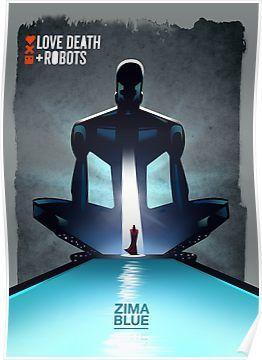 Love death & robots - Zima Blue Poster
