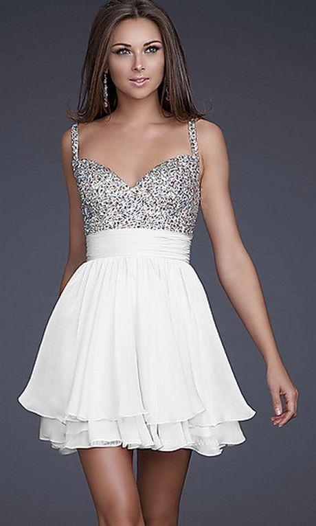 the latest e6abf 4518c vestito, corto ,elegante, bianco con strass argentati dalla ...
