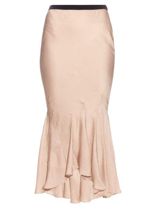 HAIDER ACKERMANN Myristicin Bias-Cut Satin Skirt. #haiderackermann #cloth #skirt