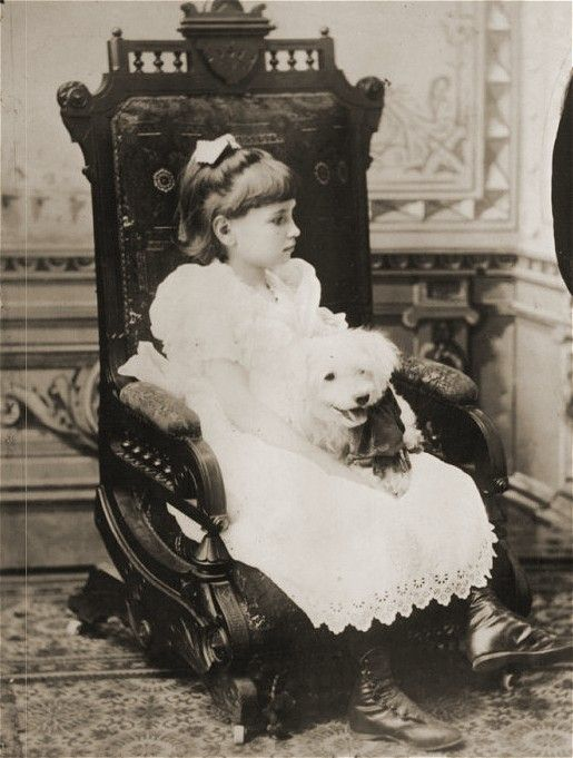 Helen Keller as a child with her dog in 1887 | Celebrities When ...