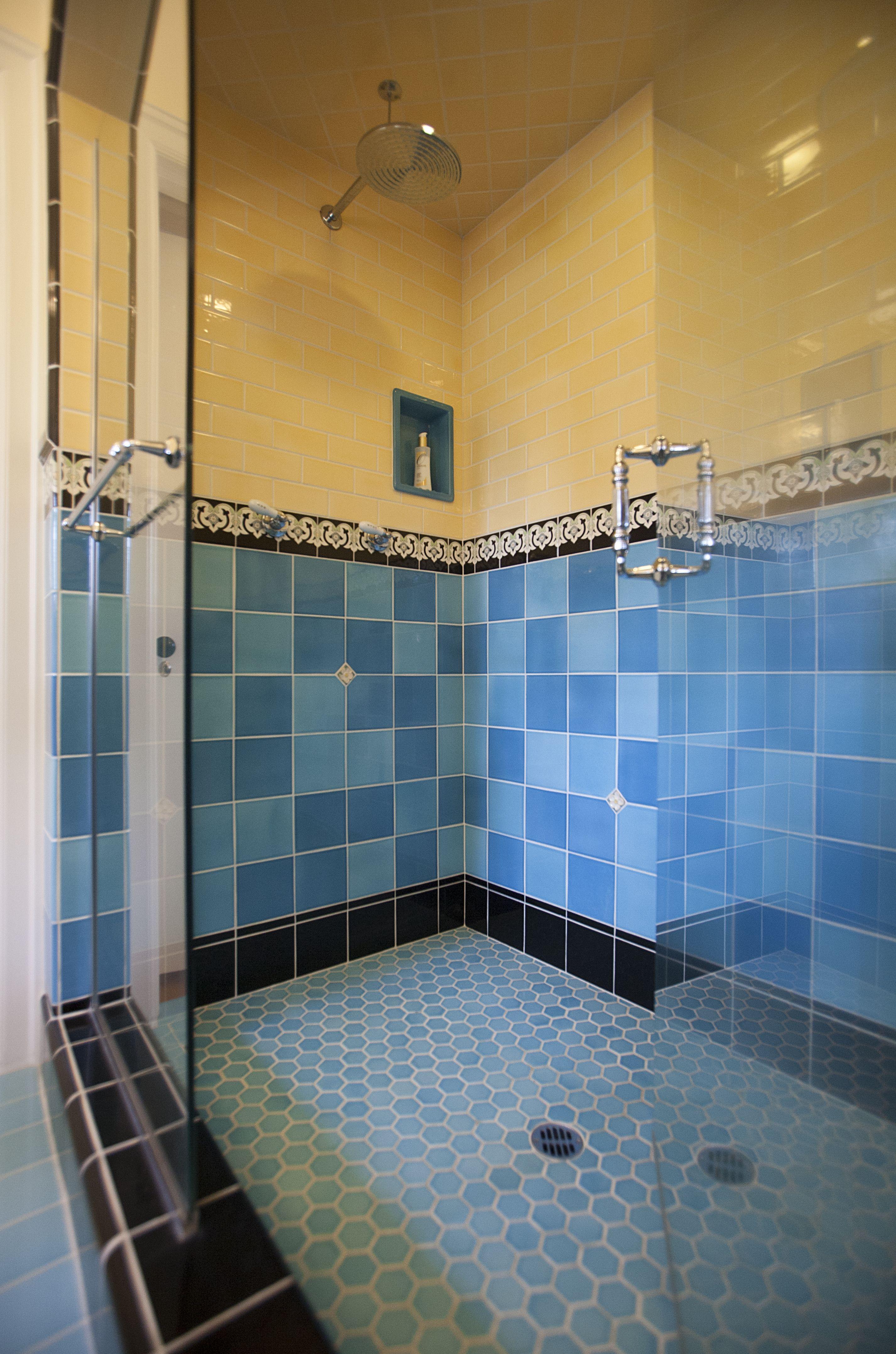 Art Deco Master shower | Art Deco Tile | Pinterest | Art deco tiles ...