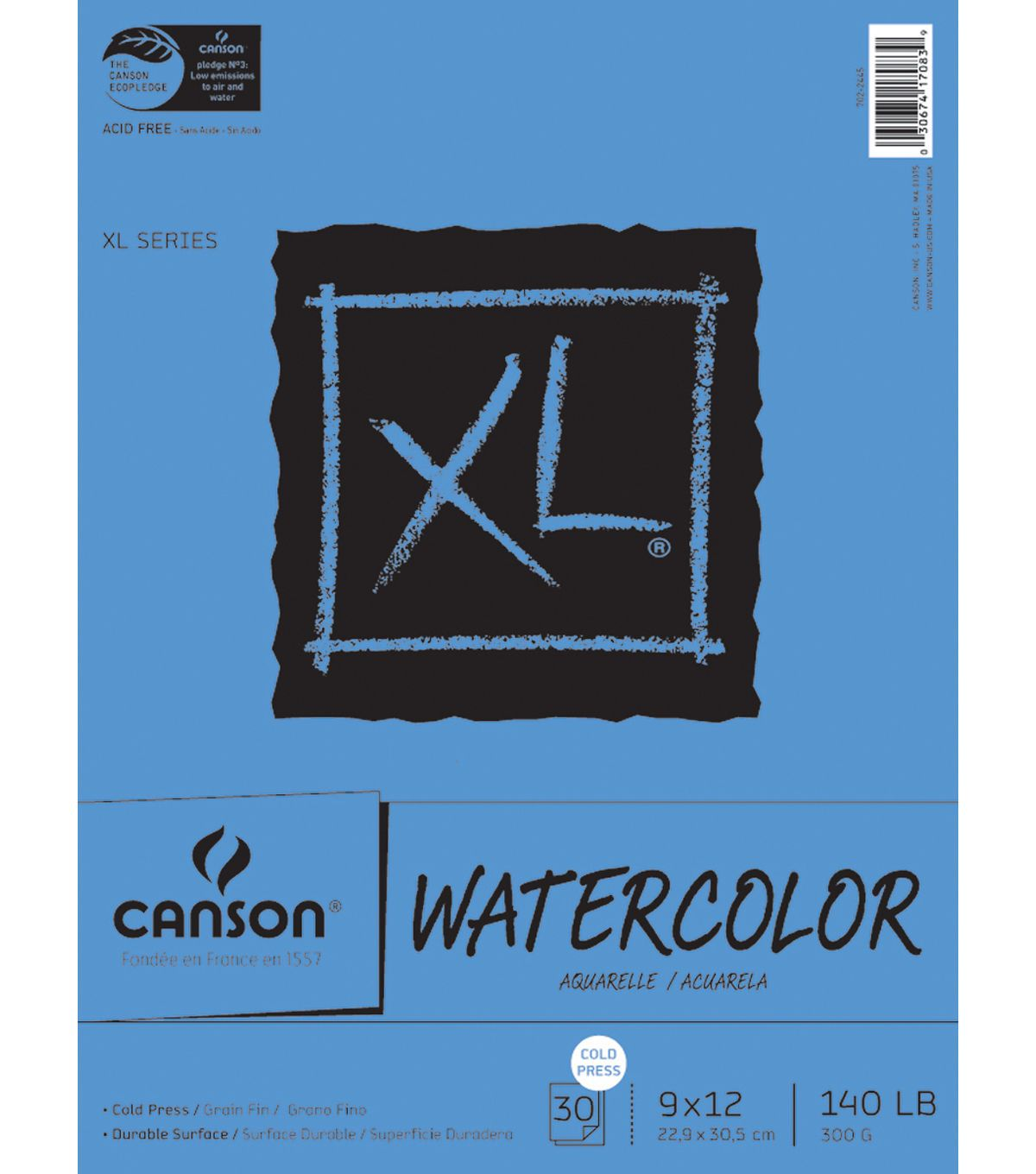 Canson Xl Watercolor Paper Pad 9 X12 In 2020 Art Pad