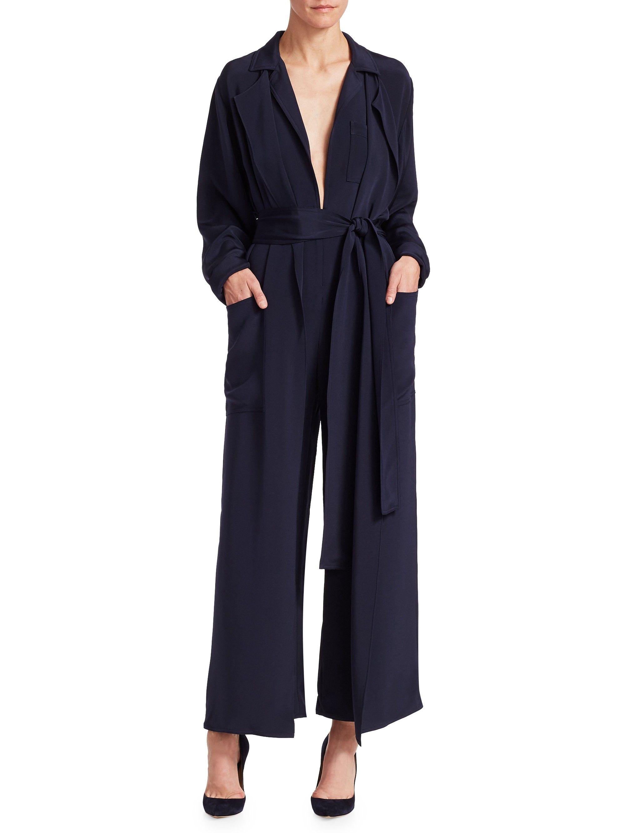 d297e45bfd0 Ralph Lauren O reilly Silk Jumpsuit - Dark Navy 10