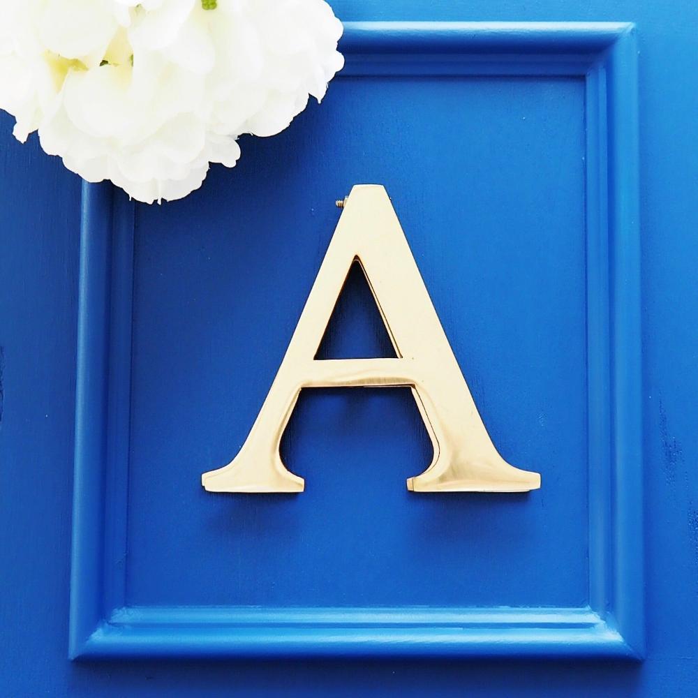 Home Furniture Diy Monogram B Brass Door Knocker Letter Initial B Hamptons Coastal Decor Style Athena Com Pe