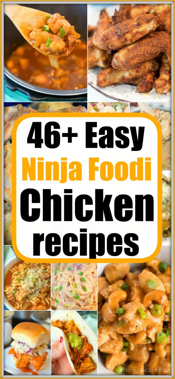 Ninja Foodi chicken recipes are here!! From frozen to