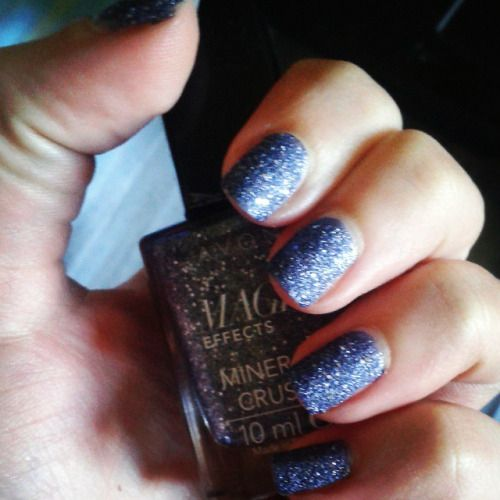 my nails now #nails #blue #sparkle