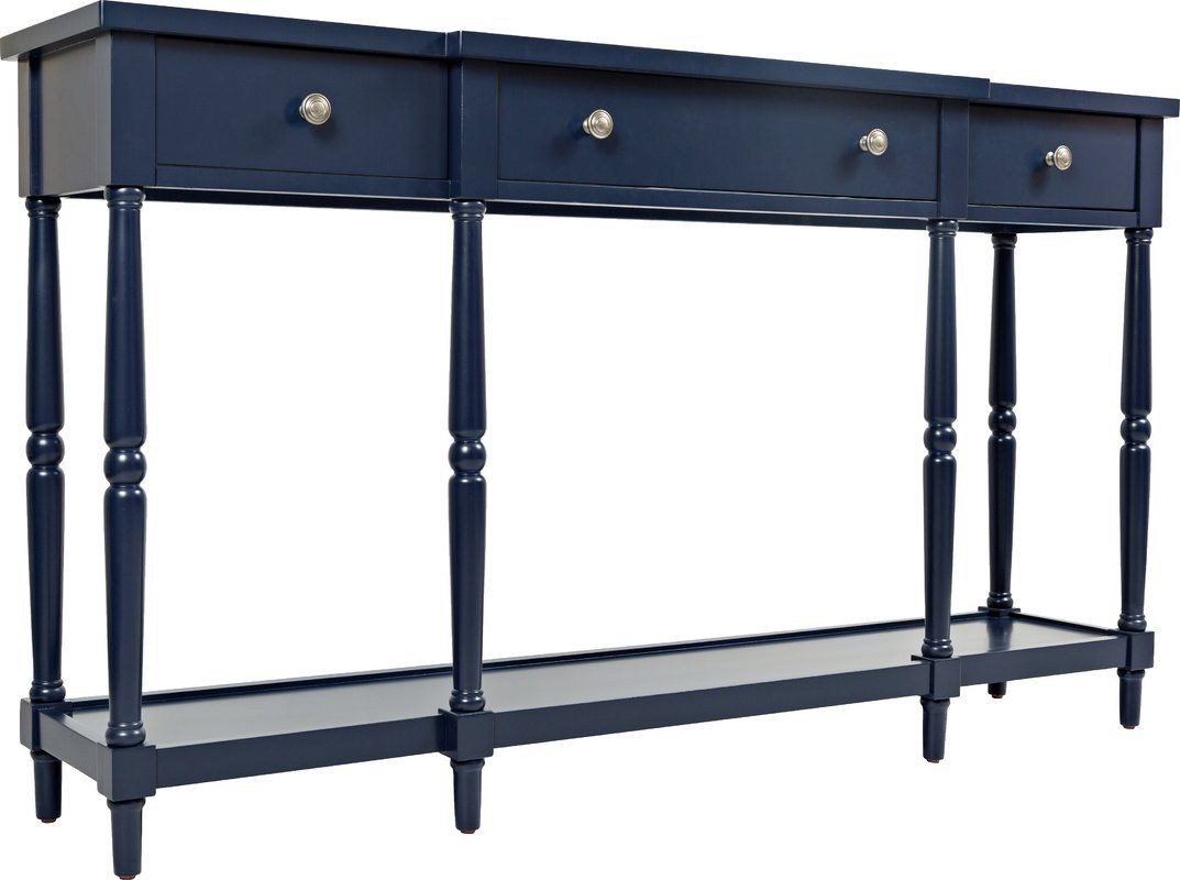 Beaumont 60 Console Table Blue Console Table Narrow Console