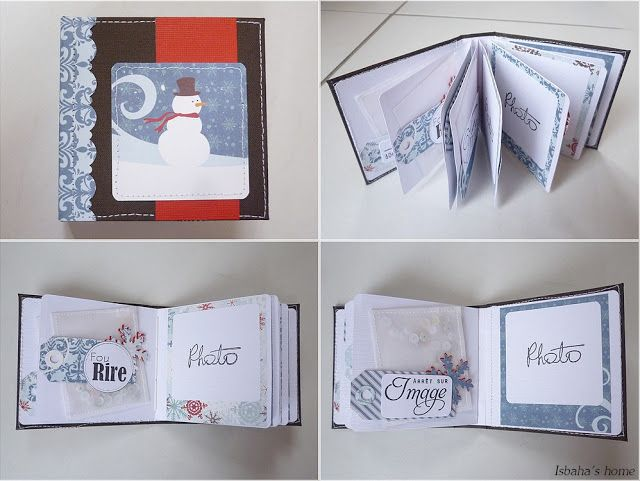 "Tuto de mini ""hiver"" : http://isbahashome.blogspot.fr/2013/11/tutorial-for-mini-album-with-only-one.html"