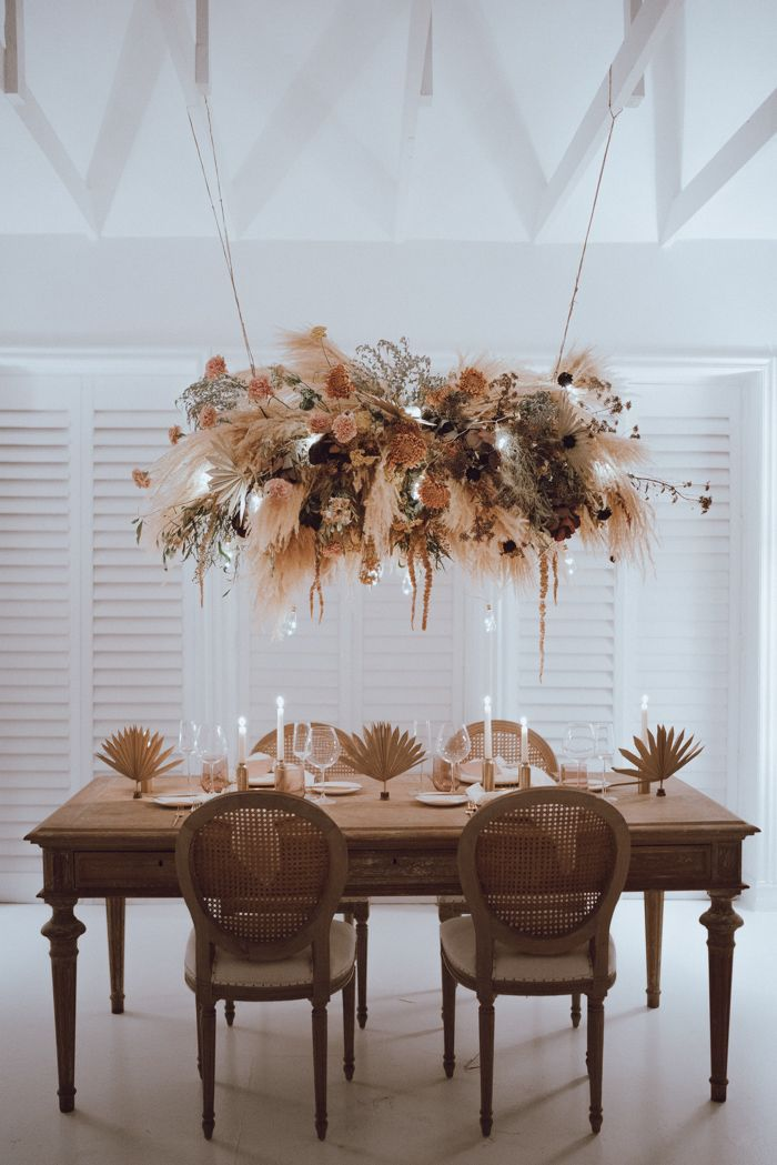 In Case You Haven't Been Convinced Yet, This Miami Wedding Inspiration will Make You Want to Decorate Everything Using Pampas Grass