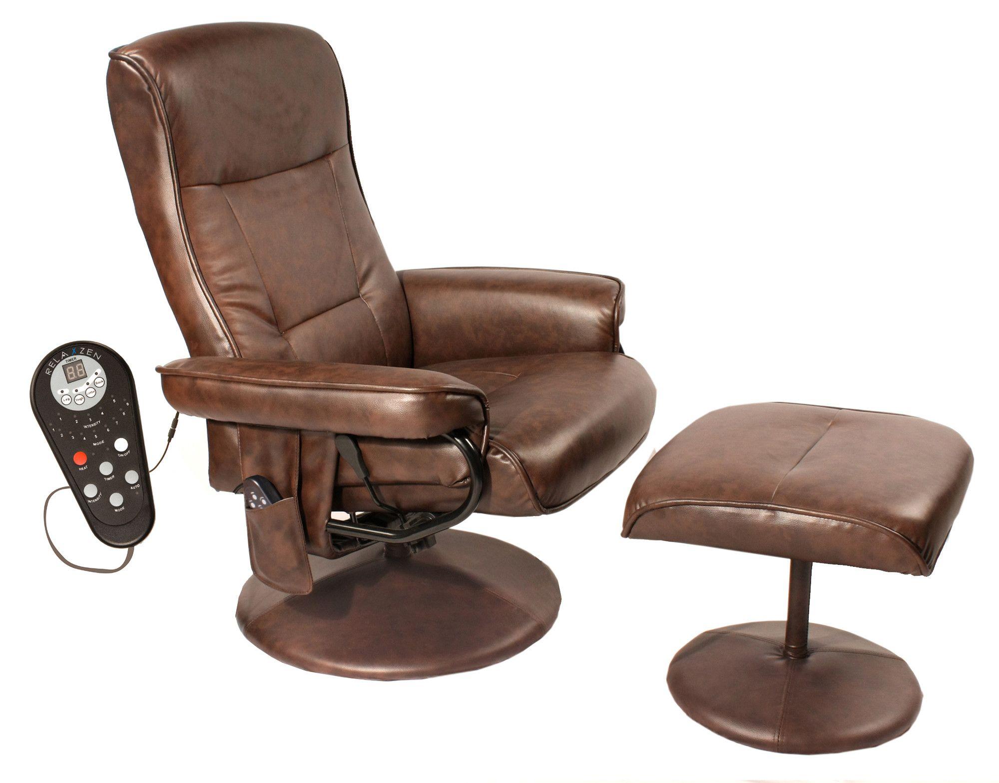 comfort products relaxzen leisure reclining heated massage chair