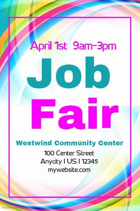 Job Fair Flyer Template Unique Job Fair Flyer in 2020 ...