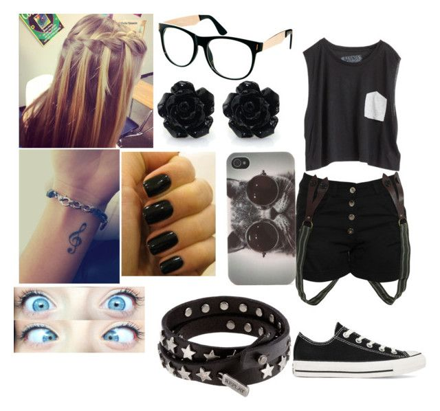 """""""sin titulo#399"""" by sofi-camachod ❤ liked on Polyvore featuring Blondes Make Better T-Shirts, Converse, Jeepers Peepers, OPI, Replay and With Love From CA"""