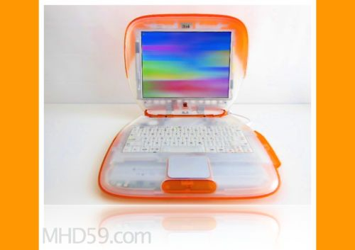 Apple Ibook Clamshell Special 366 Mhz Orange 60 Gb Hd Translucent Dual Os 9 X Apple Ibook Clamshell Apple