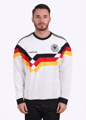 Adidas Originals Apparel OG DFB Beckenbauer Germany Crew Sweater - White 5f855cf76