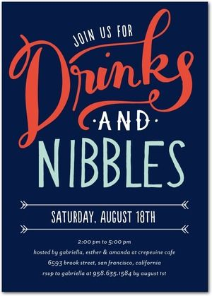 Drinks and Nibbles - Corporate Event Invitations in Baltic or ...