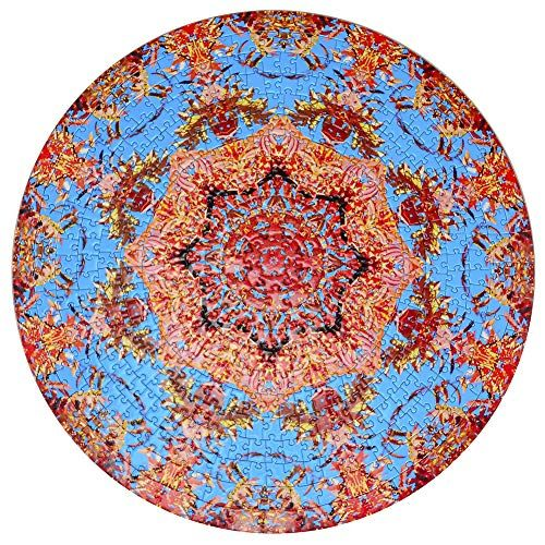 Bgraamiens Puzzle-Huaxia Creature-1000 Pieces Round Puzzle Color Challenge Jigsaw Puzzles for Adults and Kids
