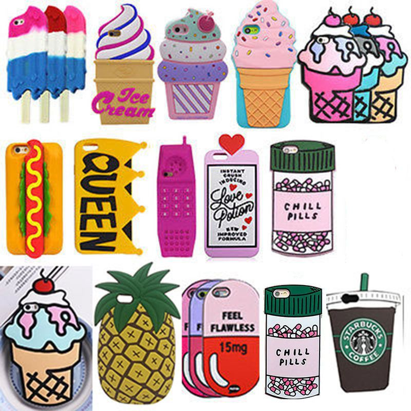 3D Cartoon Starbucks Ice Cream Silicone Phone Case For iPhone 5 5S 6 6S 7 Plus #UnbrandedGeneric