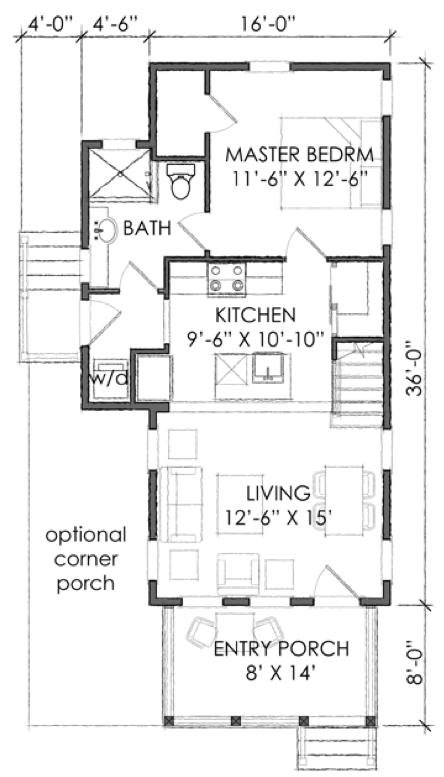 Tnh Pc 15a Moser Design Group Tiny House Plans Tiny House Floor Plans Free House Plans