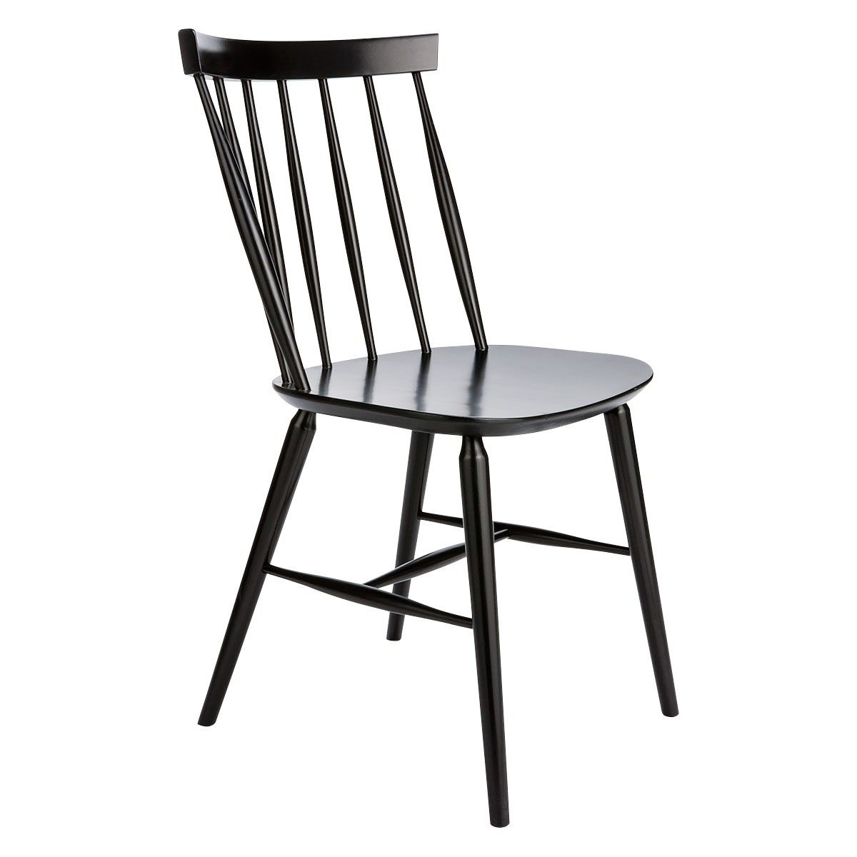 Talia Black Spindle Back Dining Chair Dining Chairs Black