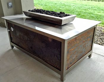 IMPACT Fire Table Installations From Around The USA. Modern, Industrial  Design Steel Fire Tables