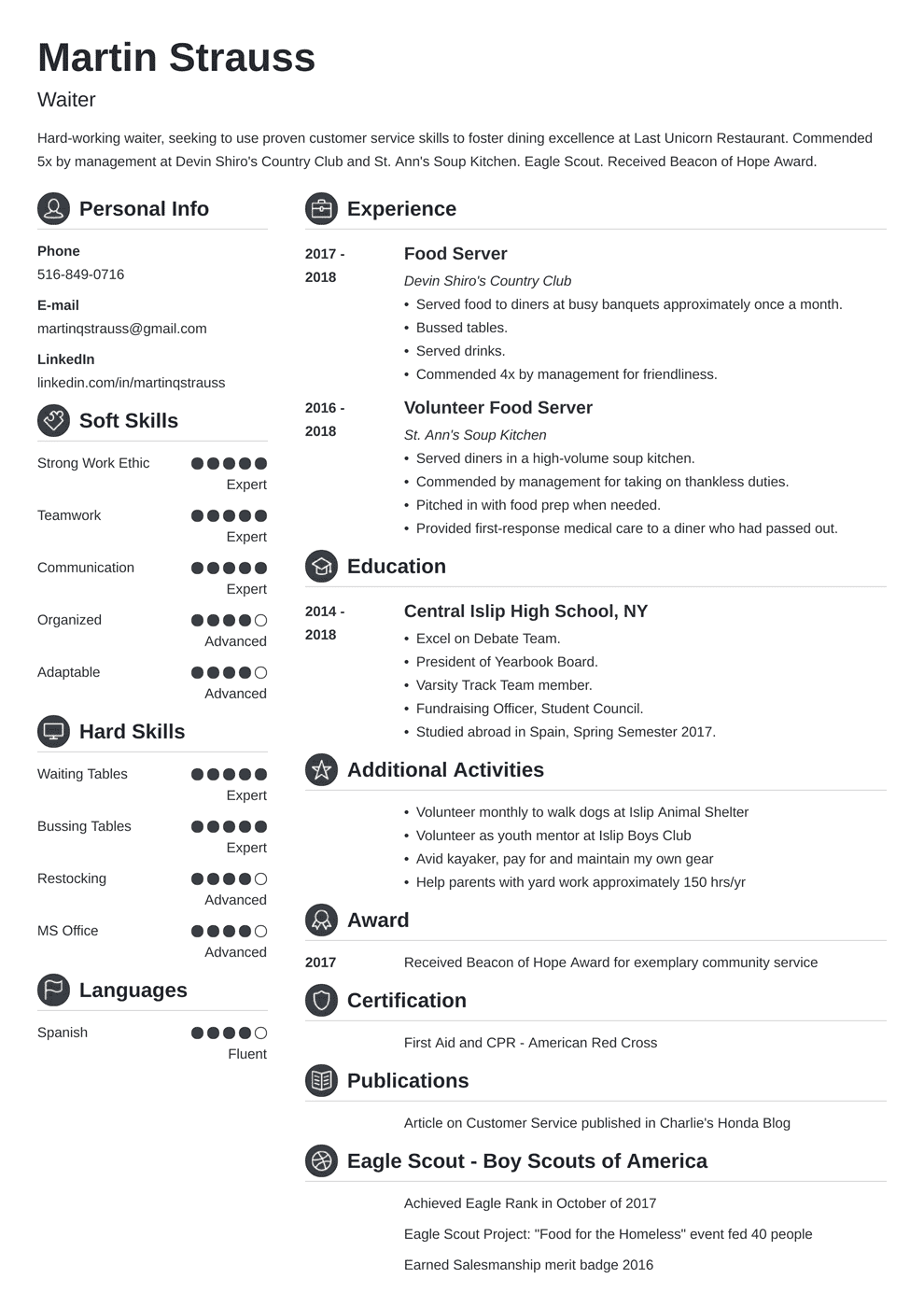 Resume Examples for Teens Templates, Builder & Writing