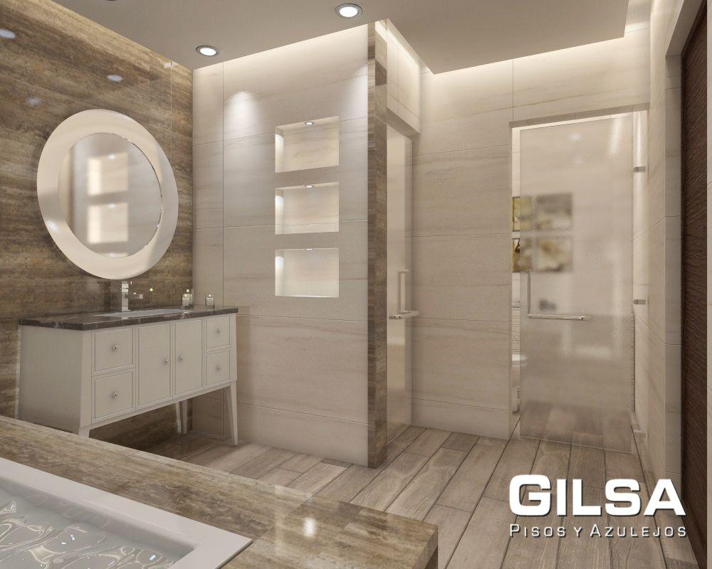 Cuarto de ba o de estilo transicional materiales for Materiales para pisos exteriores