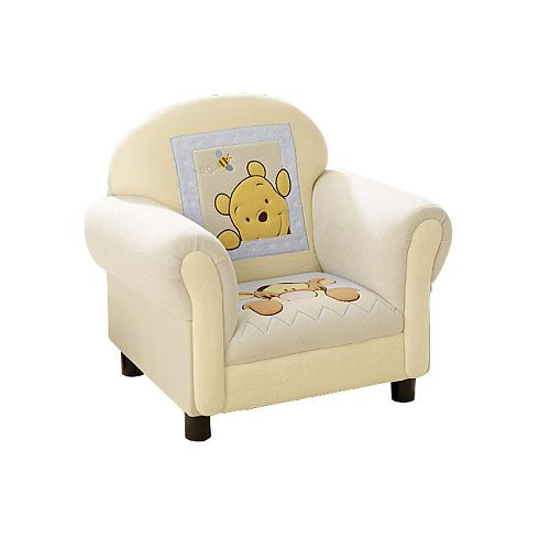 Kids Line Winnie The Pooh Soft Amp Fuzzy Upholstered Chair