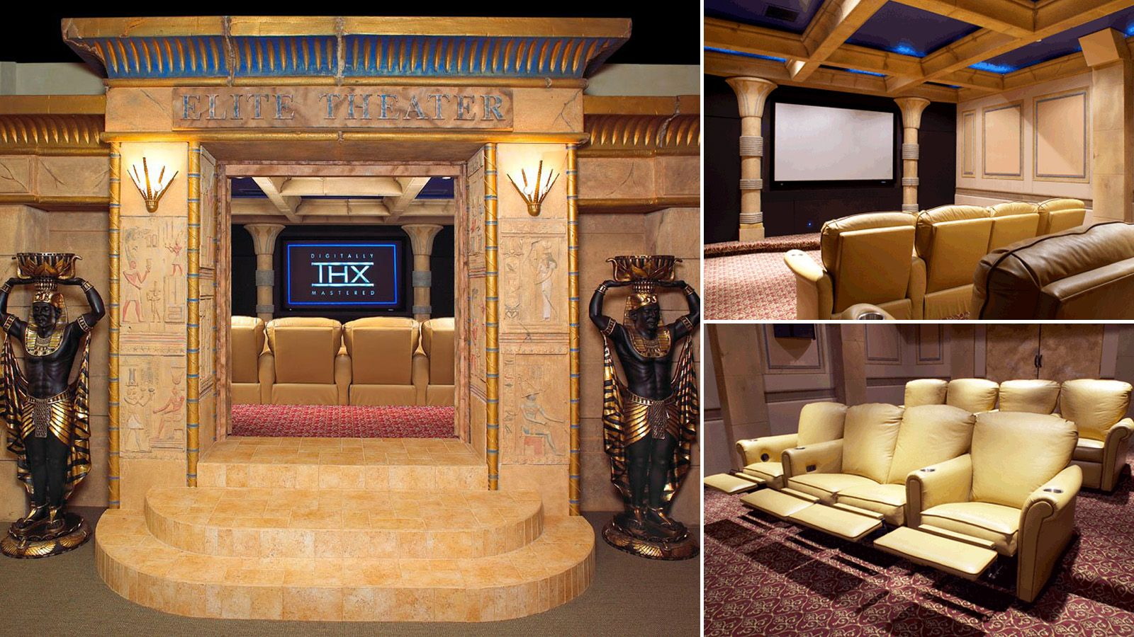 16 Obscenely Over the Top Home Theaters Architects Interiors and Room
