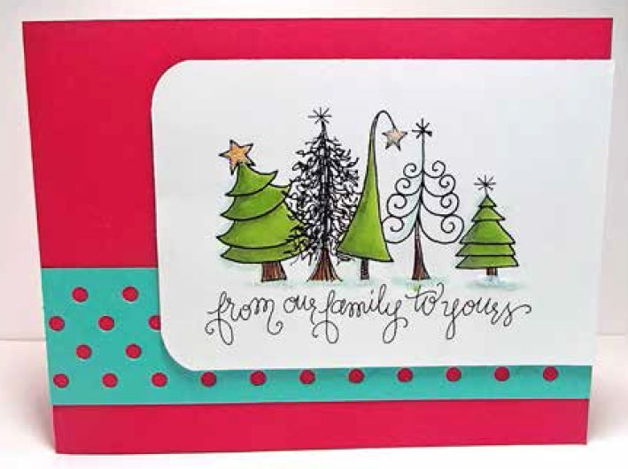 Impression Obsession - Cling Mounted Rubber Stamp - By Lindsay Ostrom - Funky Trees